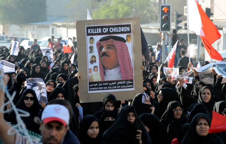 Manifestazione contro la monarchia bahranita
