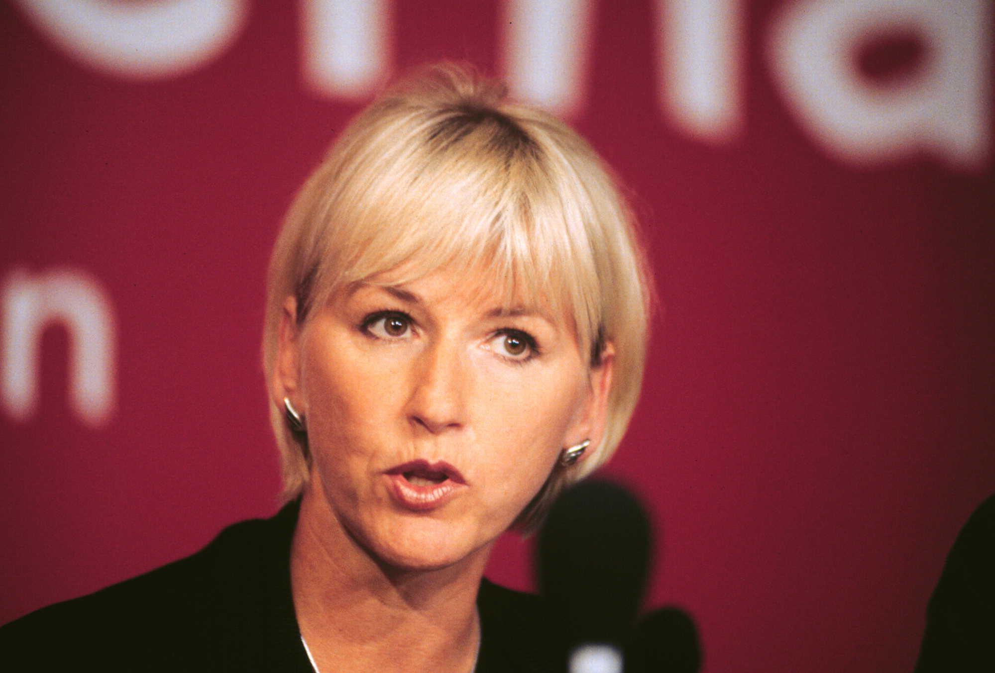 La ministra degli esteri svedese Margot Wallstrom
