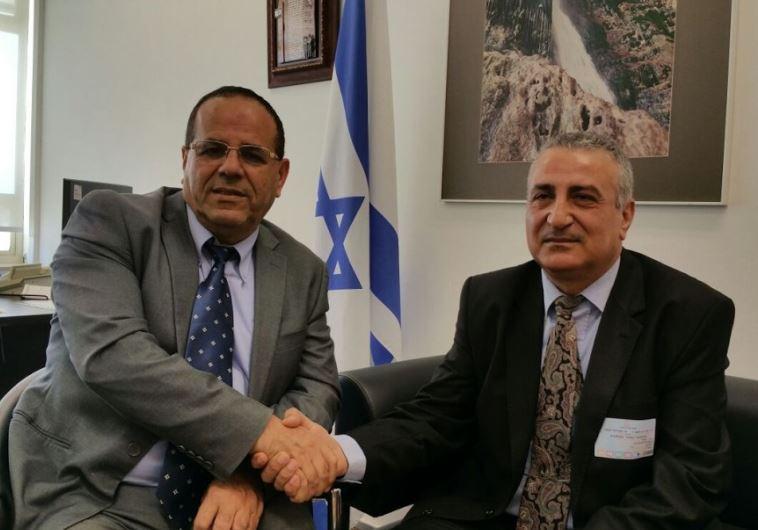 A destra Kamal Labwani, rappresentante dell'opposzione siriana l'altro giorno in visita alla Knesset israeliana