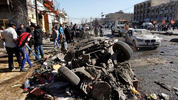 La prima bmba esplosa ieri a Baghdad (Fonte: isis.liveuamap.com)