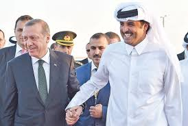 Turkish President Recep Tayyip Erdogan and the Emir of Qatar Sheikh Tamim bin Hamad al Thani