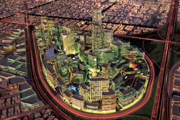 Il progetto per il quartiere finanziario di Riyadh (Fonte: Ndtv)