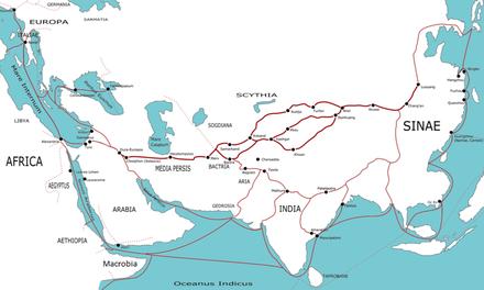 Gli antichi percorsi della Via della Seta