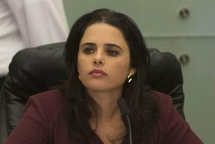La ministra della giustizia, Ayelet Shaked
