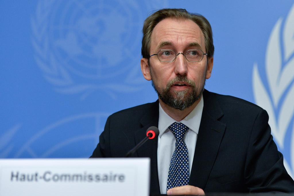 Il capo dell'Agenzia dei diritti umani delle Nazioni Unite, Zeid Ra'ad