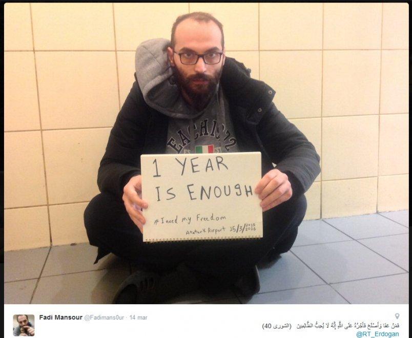 La foto pubblicata da Fadi Mansour sul suo profilo Twitter