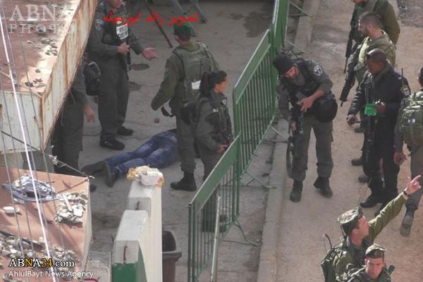 Il corpo del 18enne Abdullah Muhammad al-Ajlouni, ucciso oggi a Hebron (Foto: Abna Photo)