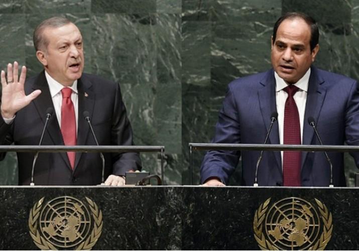 Il presidente turco Erdogan e l'egiziano al-Sisi