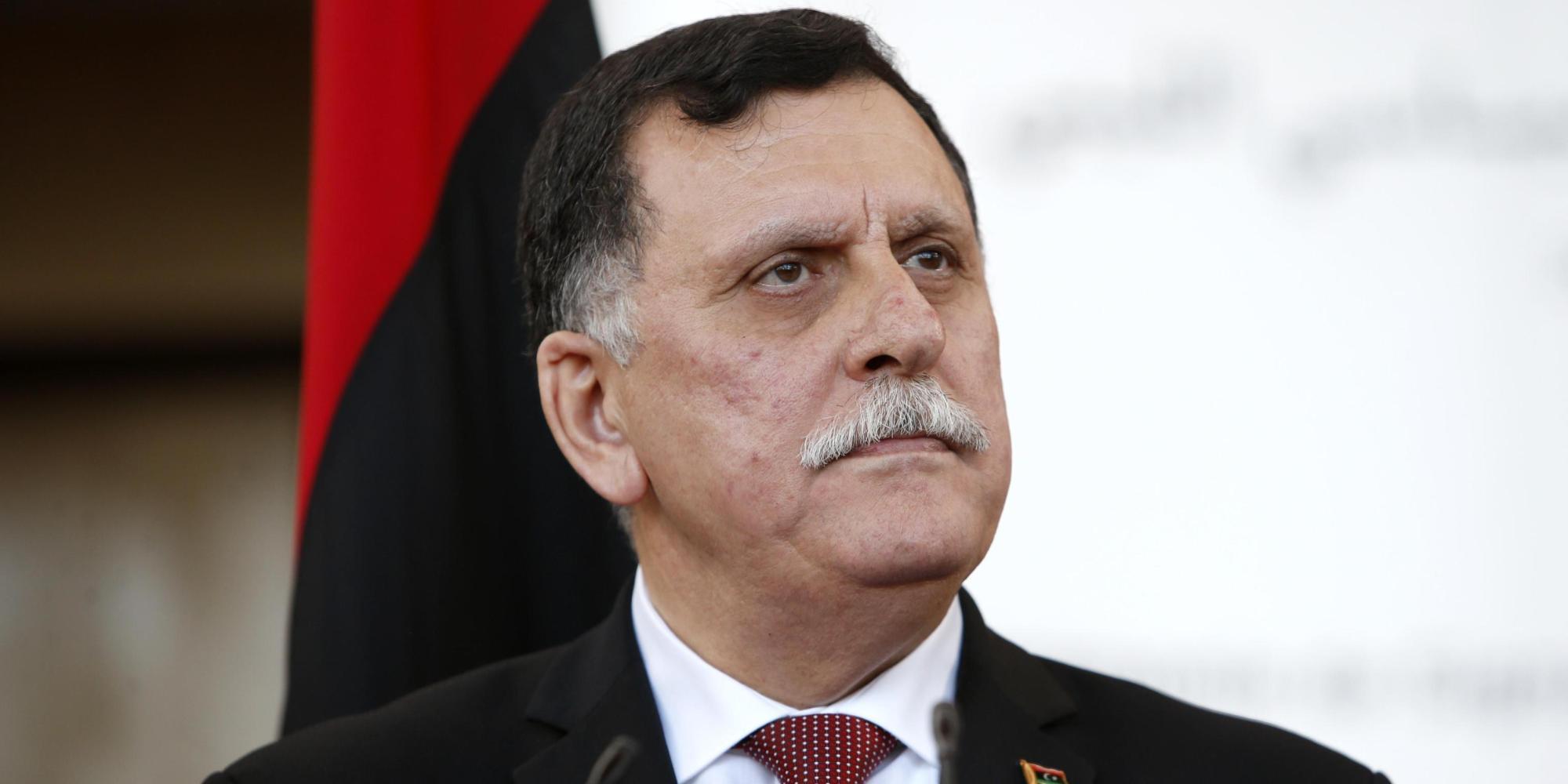 Il premier libico del governo d'unità, Fayez as-Sarraj