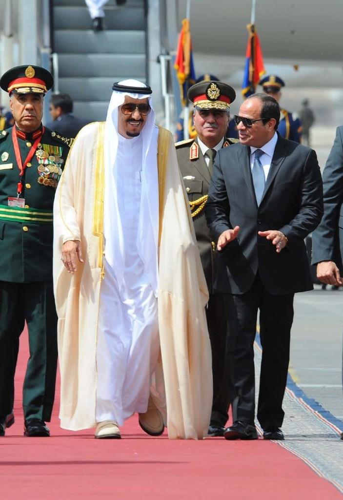 Il re saudita Salman e il preidente egiziano Abdel Fattah al Sisi