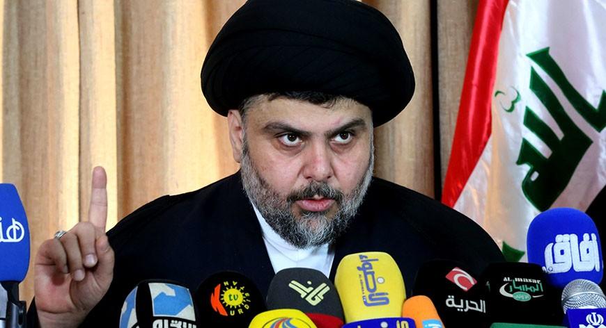 Shi'ite Muslim cleric Sadr speaks in Najaf