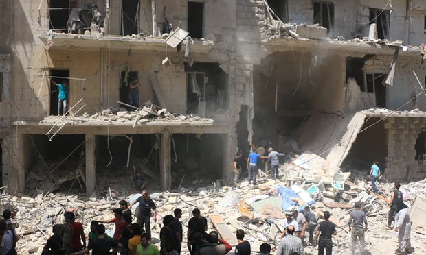 Distruzione ad Aleppo (Foto: Anadolu Agency/Getty Images)