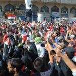 IRAQ. Rami di ulivo contro lacrimogeni: Baghdad torna in piazza