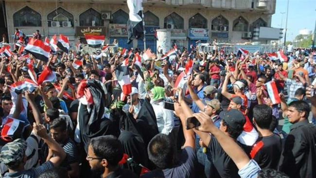 Proteste a Baghdad (Fonte: PressTv)
