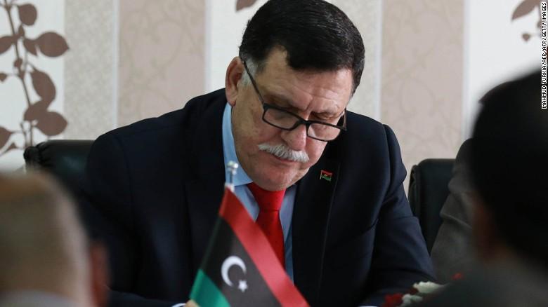 Il premier libico Fayez al-Sarraj