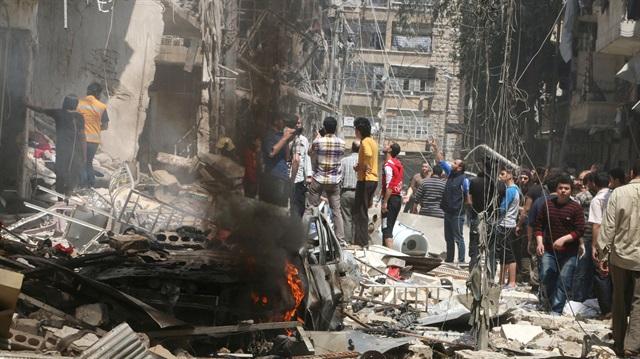 Distruzione ad Aleppo (Fonte: http://www.yenisafak.com)