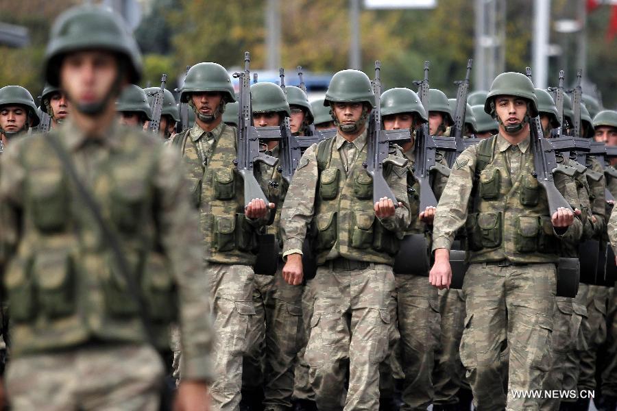 Soldati turchi (Foto: Xinhua/Cihan)