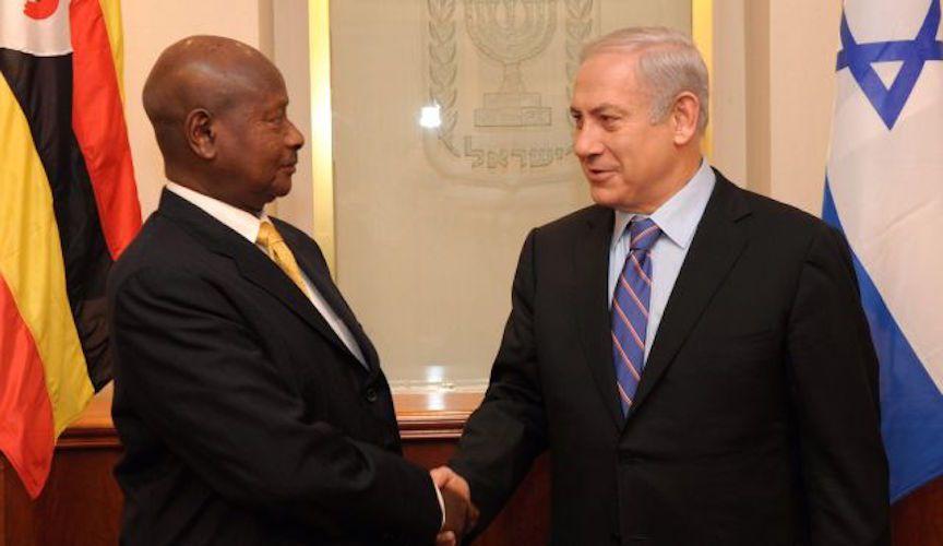 Il presidente ugandese Yoweri Museveni e il premier israeliano Benyamin Netanyahu