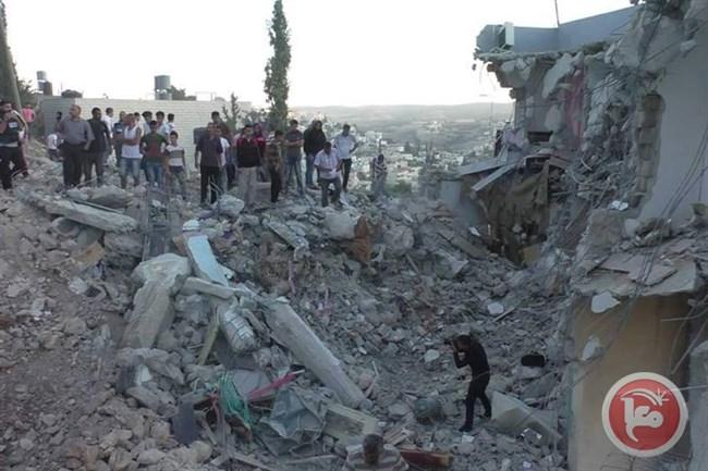 La casa demolita in cui si trovava Faqih (Foto: Ma'an News)