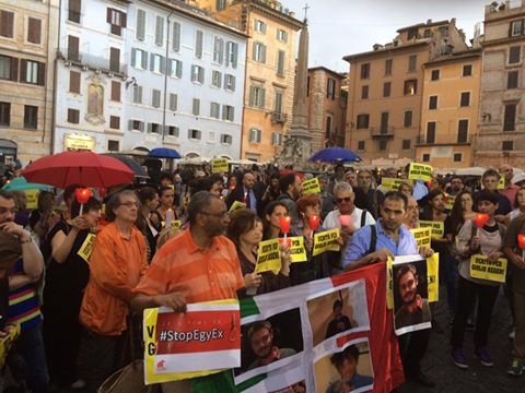 La fiaccolata di ieri al Pantheon a Roma (Foto: Amnesty International/Facebook)