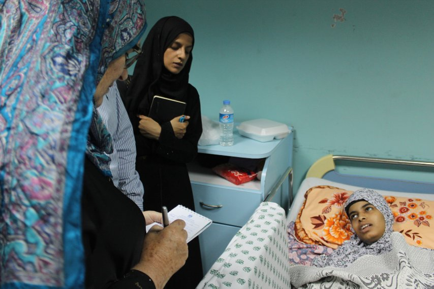La paziente Ayah Abadan (Foto: Federica Iezzi/Nena News)