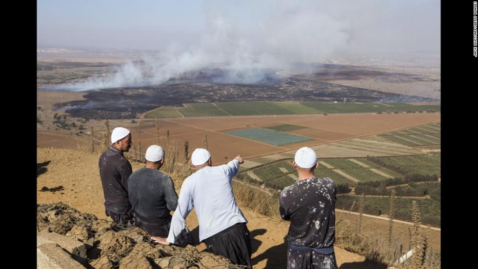 Scontri sul Golan, febbraio 2014. Foto tratta dal sito della Cnn