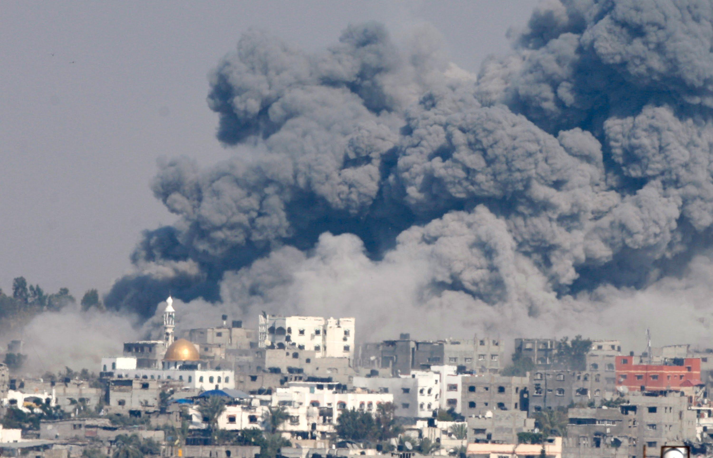 Gaza, durante l'offensiva Margine Protettivo. Estate 2014