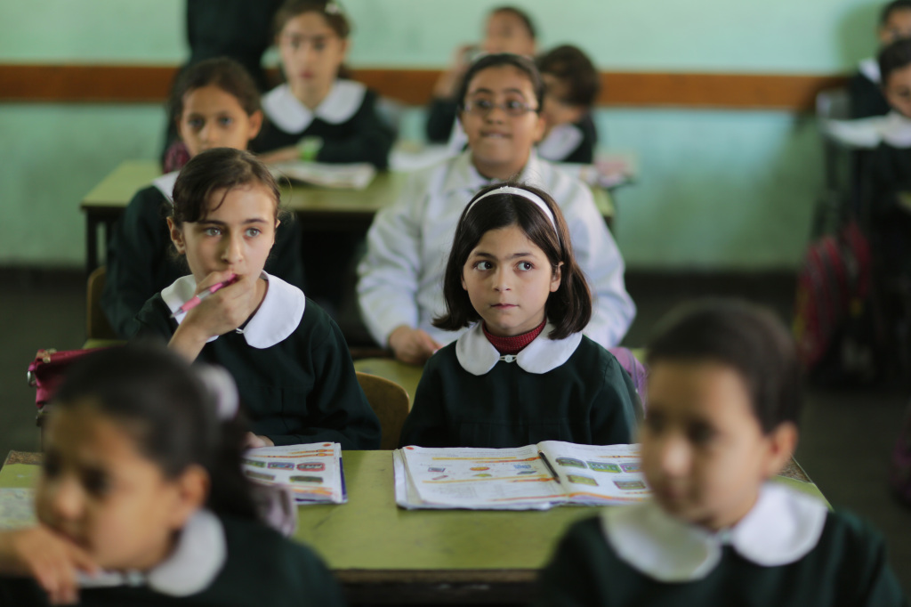 Una scuola elementare a Gaza City (Foto: Wissam Nassar/Flash90)
