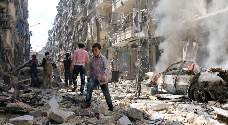 Distruzione ad Aleppo (Fonte: http://www.tvm.com.mt/)