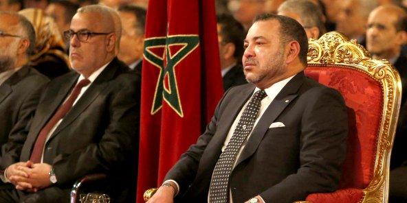 Da sinistra il premier Abdelilah Benkirane e re Mohammed VI