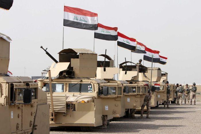 Forze di sicurezza irachena in direzione di Mosul. (Foto: Ahmed Saad, Reuters)