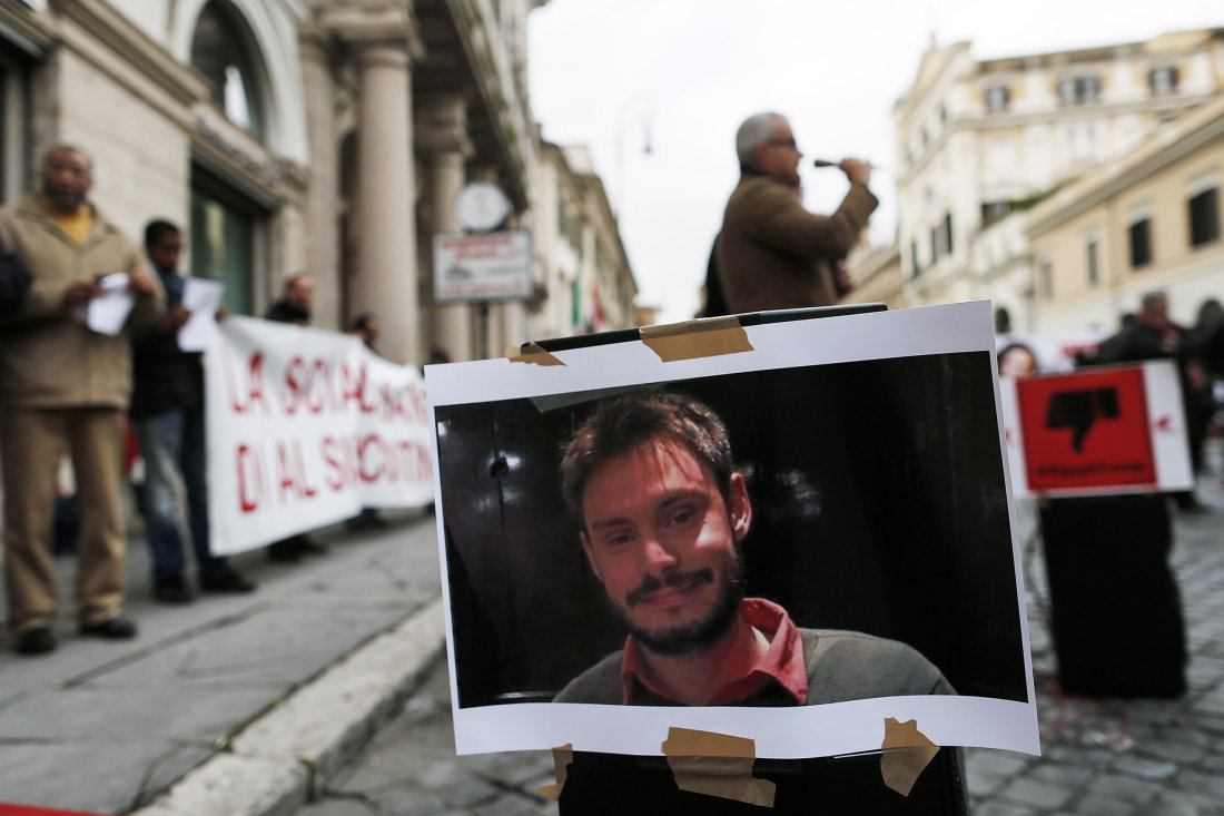 Demonstration for Giulio Regeni