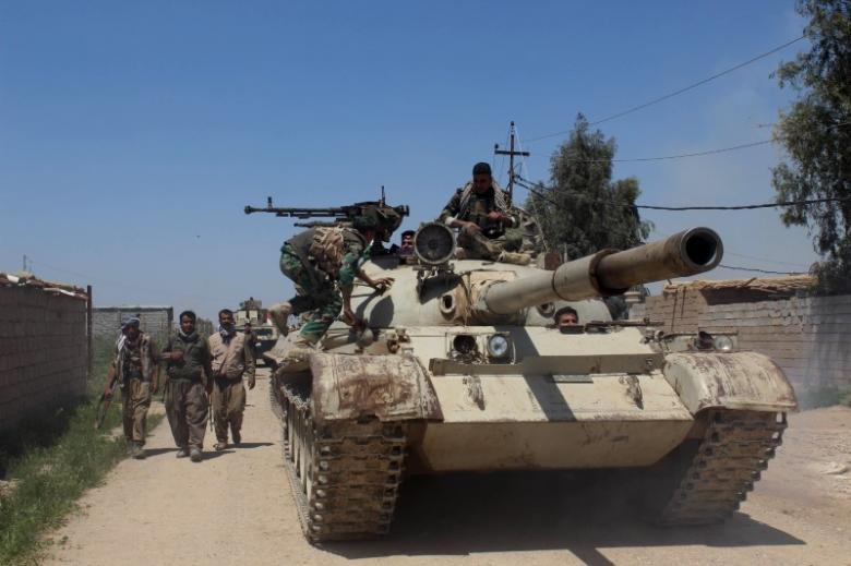Forze peshmerga fuori Kirkuk lo scorso aprile. (Foto: Reuters/Ako Rasheed)