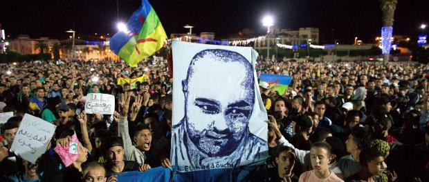 Una delle proteste per la morte di Fikri a al-Hoceina (REUTERS/Stringer)