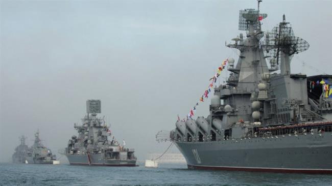 Navi da guerra russe (Fonte: PressTv)