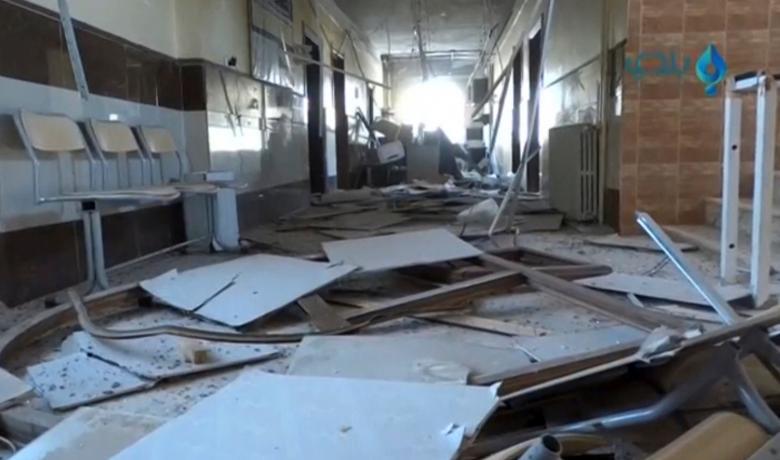 Ospedale bombardato ad Aleppo est. (Fonte foto: Social media)