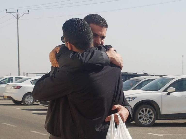 Daoud al-Ghoul il giorno del rilascio il 27 novembre