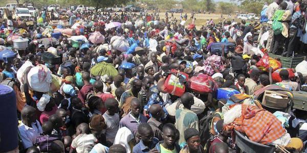 Profughi del Sud Sudan (foto AP/UNMISS, di Hailemichael Gebrekrstos)