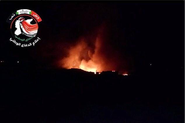 Raid israeliano a Mezzeh. (Fonte foto: media della difesa nazionale siriana)