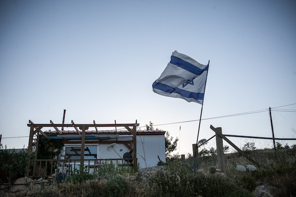 Un insediamento coloniale (Noam Moskowitz/Flash90)