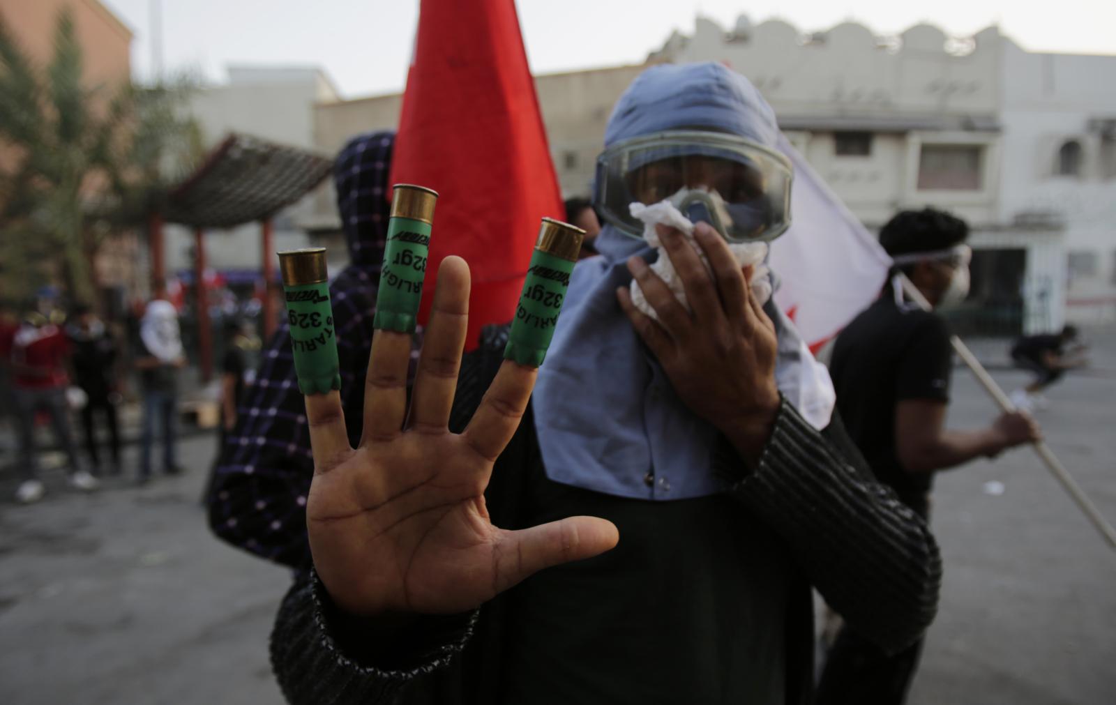 Manifestante bahrenita (Foto: Amnesty International)