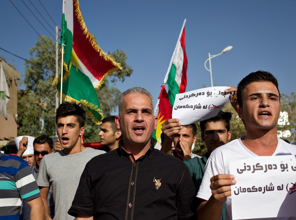 Proteste a Suleymaniyya, Kurdistan iracheno. (Foto: Matt Cetti-Roberts photo)