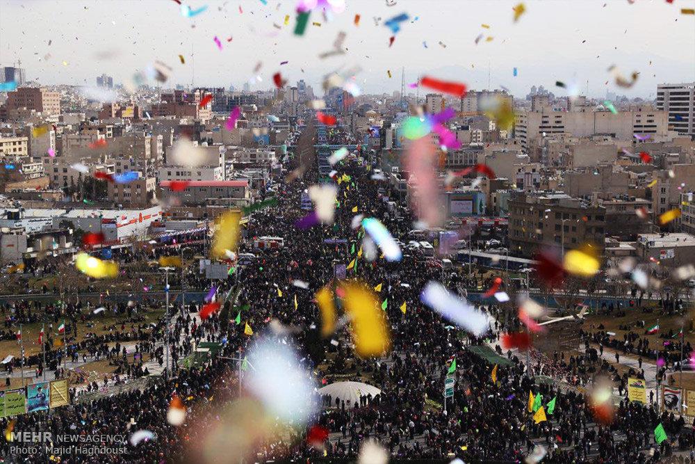 La manifestazione di oggi a Teheran (Foto: Mehr NewsAgency/Majid Haghdoust)