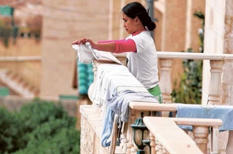 Una lavoratrice filippina in Arabia Saudita (Fonte: asianews)