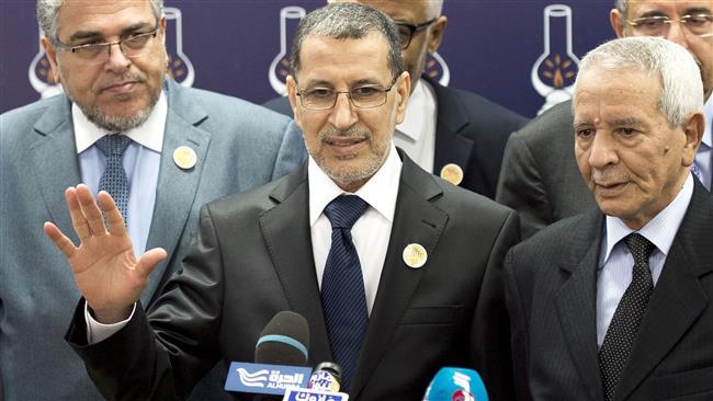 Al centro, il premier marocchino el-Hothmani