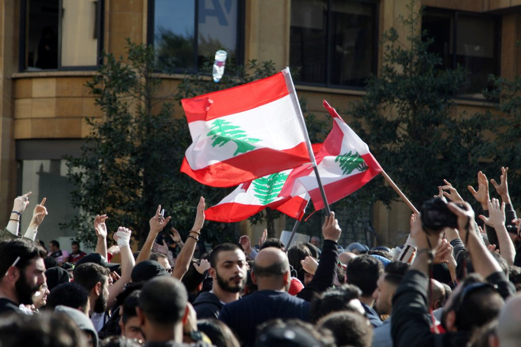 Proteste contro l'aumento delle tasse. Beirut, 19 marzo 2017 (Foto: Alia Haju/Reuters)