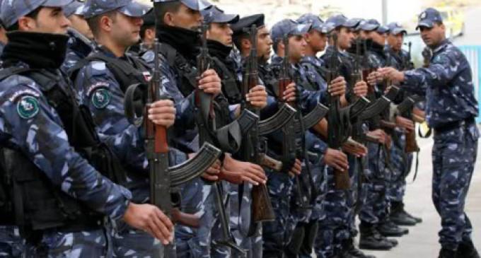 Le forze di sicurezza palestinesi