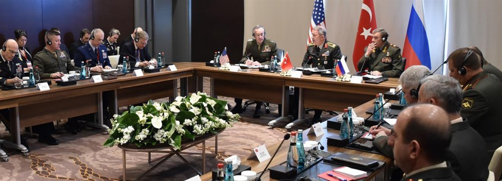 The troika meeting was held in the southern Turkish city of Antalya on March 7