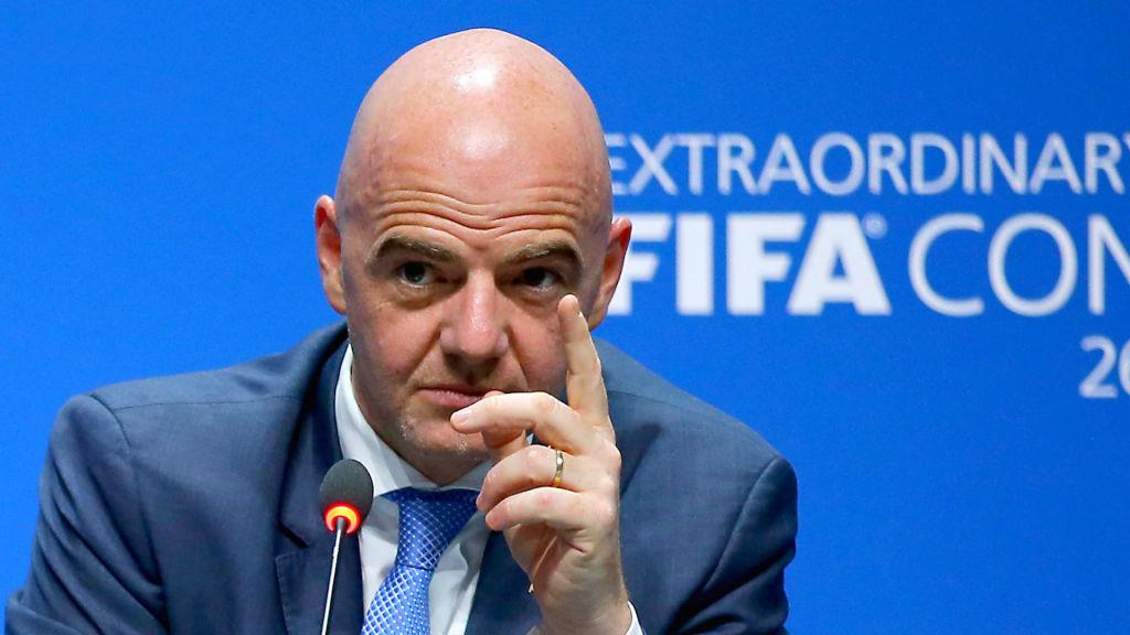 Il presidente della Fifa Gianni Infantino