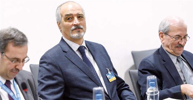 Il capo negoziatore siriano e ambasciatore siriano all'Onu al-Jaafari (Fonte: Hurriyet)